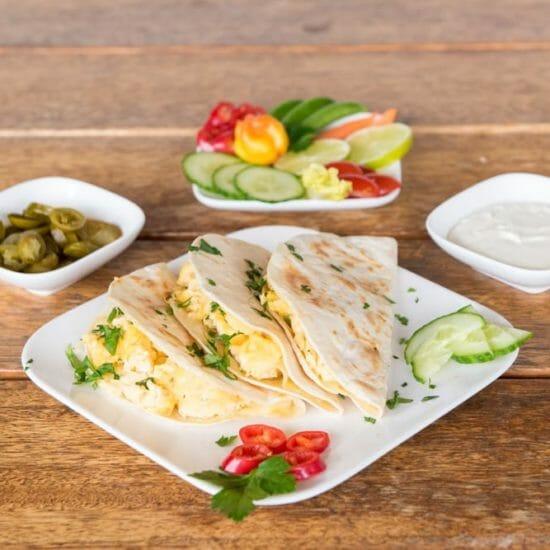 3 Mini Frühstücks - Quesadillas